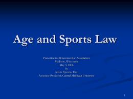 ADEA and Sports