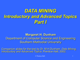 Data Mining - Southern Methodist University