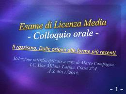 Esame Licenza Media Colloquio orale