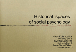 Historical spaces of social psychology