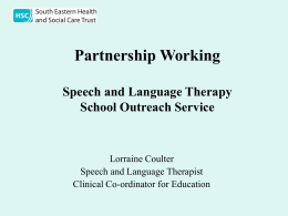 Speech & Language Therapy School Outreach Service