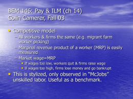 BEM 146: Pay & ILM (ch 14)