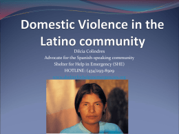Domestic and Sexual Violence and its effects On
