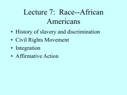Lecture 7: Race