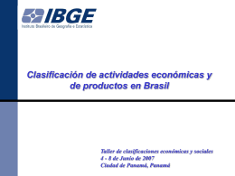 Clasificación de actividades económicas y de