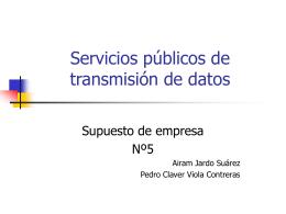 Servicios públicos de transmisión de datos