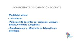 COMPONENTE DE FORMACIÓN REGIONAL