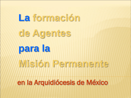 FORMACIÓN DE AGENTES PARA LA MISIÓN PERMAENETE