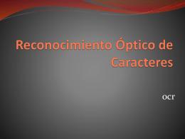 Reconocimiento Óptico de Caracteres