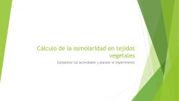 Cálculo de la osmolaridad en tejidos vegetales