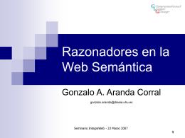 Razonadores en la Web Semántica