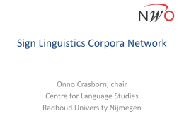 Sign Linguistics Corpora Network