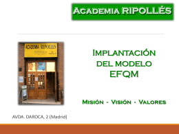 Academia RIPOLLÉS C/ Alcalá, 234 – Madrid 28027