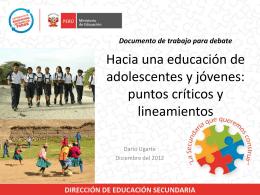 Documento de Trabajo: Lineamientos de Educación