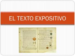EL TEXTO EXPOSITIVO - Lengua castellana y
