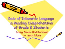 Role of language in Reading Comprehension of Grade