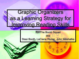 Graphic Organizers as a Learning Strategy for