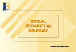 LA PREVISIÓN SOCIAL EN EL URUGUAY