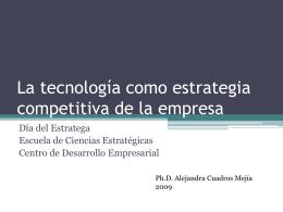 La tecnología como estrategia competitiva de la