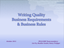 Writing Good Business Rules