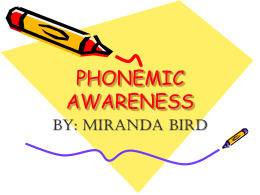 PHONEMIC AWARENESS - Emerson Alternative High