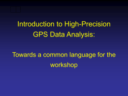 Introduction to the NAVSTAR Global Positioning