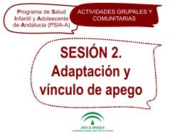 Vínculo de apego - Escuela Andaluza de Salud