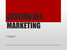 GESTIÓN DEL MARKETING