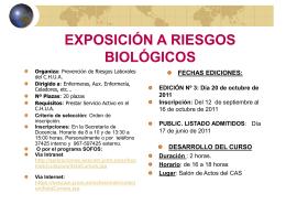 EXPOSICIÓN A RIESGOS BIOLÓGICOS