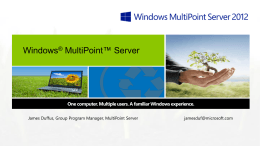 Windows®MultiPoint™ Server