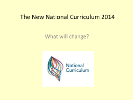 Draft Primary National Curriculum