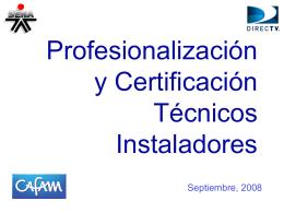 Programa de Profesionalización Técnicos
