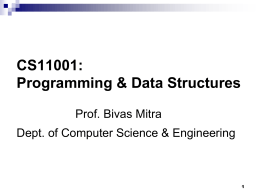Programming: 1 - Indian Institute of Technology
