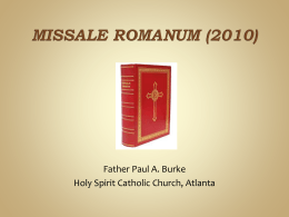Missale Romanum (2010) - Holy Spirit Catholic
