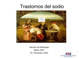 HIPONATREMIA - Servicio de Nefrología del Hospital