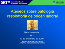 Work-related Lung Diseases (WoRLD): mortalidad por