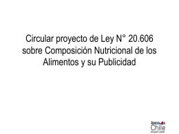 Circular proyecto de Ley N° 20.606 sobre