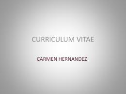 Curriculum Vitae Carmen Hernández