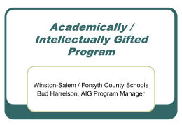 Academically / Intellectually Gifted Program