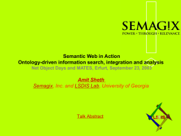 Semantic Web in Action: Ontology