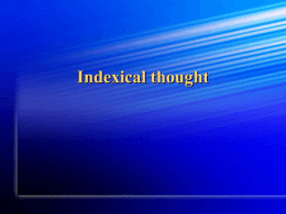 Indexical thought