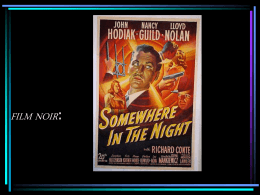 Film Noir: Somewhere in the Night