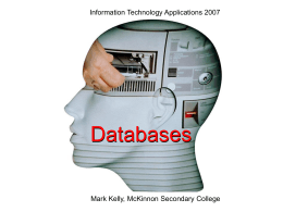 Information Technology Applications 2007