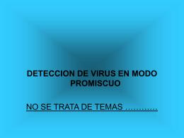 Detección de parásitos en modo promiscua.