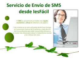 Servicio de Envío de SMS desde IesFácil