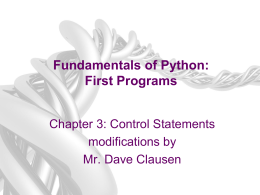 Fundamentals of Python: From First Programs
