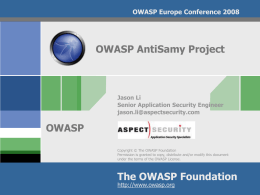 AppSecEU08-AntiSamy