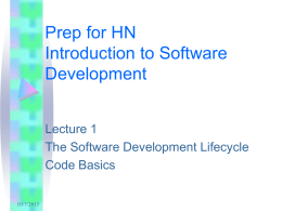 Prep for HN Introduction to Software Development
