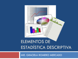 Elementos de Estadística descriptiva