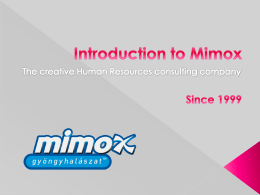 Introduction to Mimox